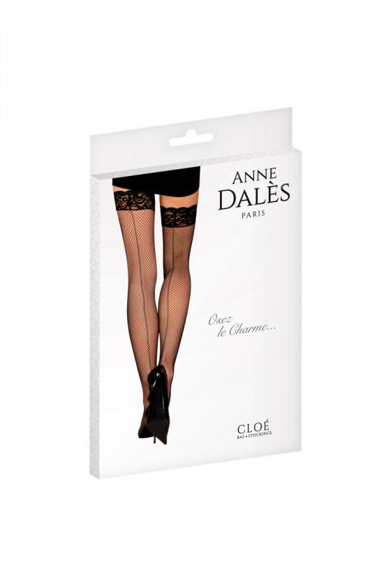 Anne Dalès Bas autofixants résille effet couture Cloé – noir